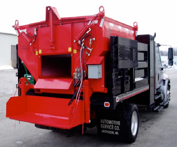 Бункер на грузовике Slip-in Mounted on Dump Truck.png